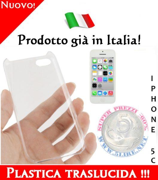 Cover Bumber Case liscia in plastica traslucida per iPhone 5C (trasparente)