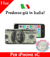 Cover Bumper Case Custodia in plastica per iPhone 5C modello 100 dollari