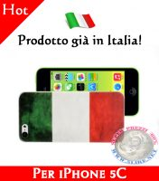 Cover Bumper Case Custodia in plastica per iPhone 5C modello bandiera Italia