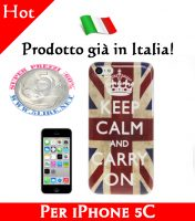 Cover Bumper Case Custodia in plastica per iPhone 5C modello bandiera UK