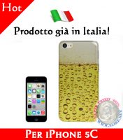 Cover Bumper Case Custodia in plastica per iPhone 5C modello Birra