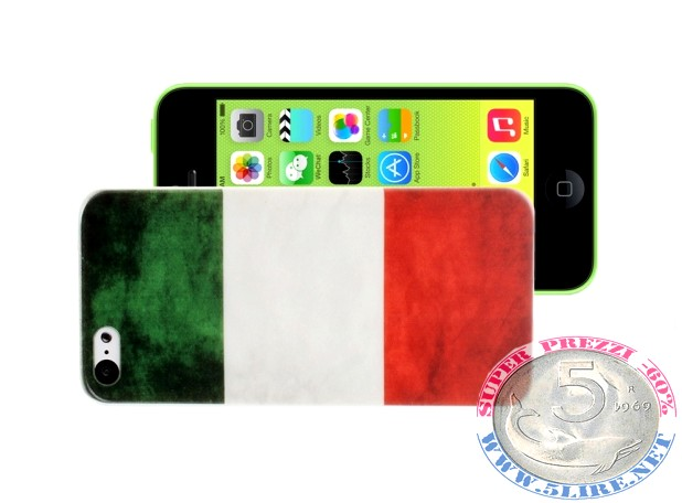 Cover iPhone 5C bandiera Italia