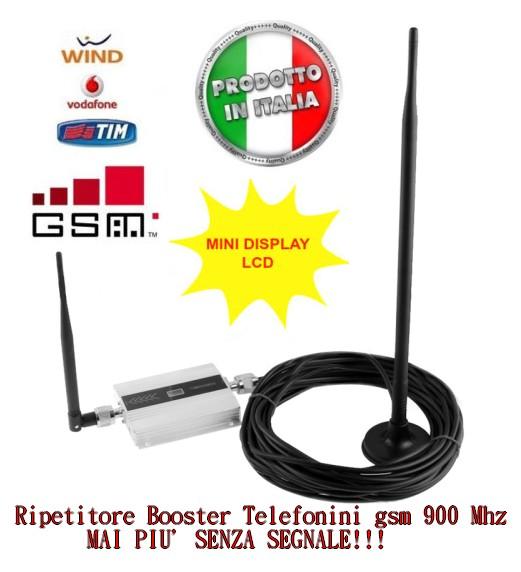 Kit Ripetitore Amplificatore Completo Cavo Antenna Segnale Gsm Cellulare 900 Mhz