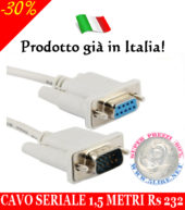 Cavo Seriale 1,5 Metri Db9 9 Pin Maschio a Rs232 Femmina Prolunga Pc Computer