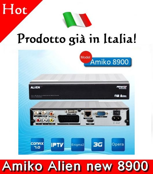 Ricevitore Satellitare Decoder AMIKO ALIEN 8900 FULL HDTV