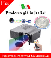 Proiettore portatile Multimediale Entertainment LED con l'altoparlante / telecomando, supporta USB Flash Disk / SD / VGA / AV Single-chip, tecnologia LCD, risoluzione 320 x 240)