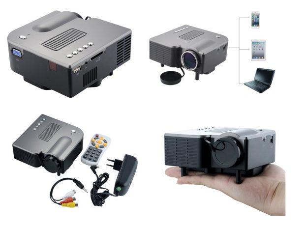 Proiettore portatile Multimediale Entertainment LED con l'altoparlante / telecomando, supporta USB Flash Disk / SD / VGA / AV Single-chip, tecnologia LCD, risoluzione 320 x 240)