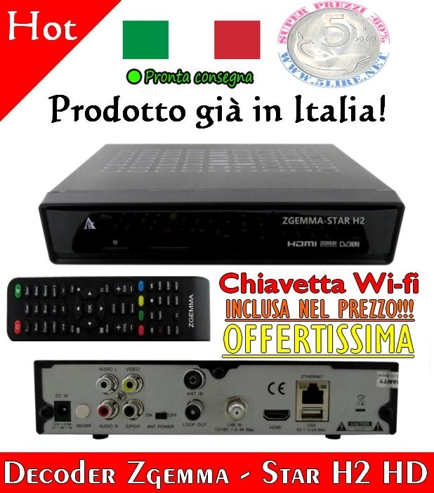 Offertissima Decoder Zgemma Star H2 Hd Chiavetta Wi Fi