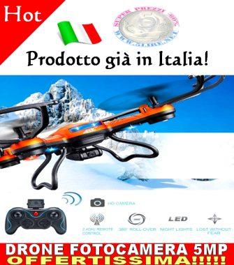 DRONE QUADRICOTTERO JJRC H12C 4CH 6 ASSI RC QUADCOPTER FOTOCAMERA VIDEO 5MP