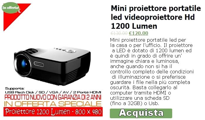 Mini Proiettore Led