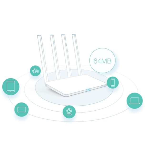 Router Wi-Fi 4 antenne