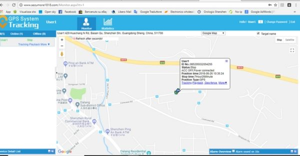 Gps tracker per auto e moto