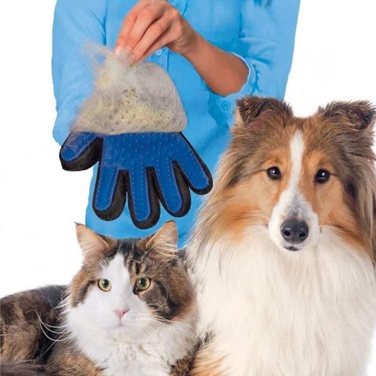 guanti per peli animali domestici.