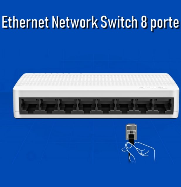 Ethernet Network Switch 8 porte