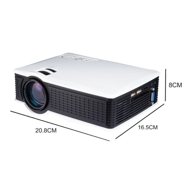 Videoproiettore Led Supporto AV USB SD VGA HDMI.