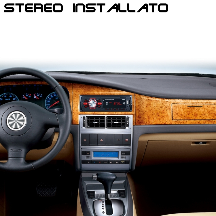 Stereo Bluetooth Auto Con Radio Fm E Ingressi Usb Aux