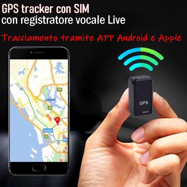 GPS tracker con sim e registratore vocale Live