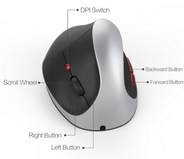 Mouse verticale wireless
